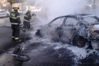 מונית עלתה באש, קרית גת