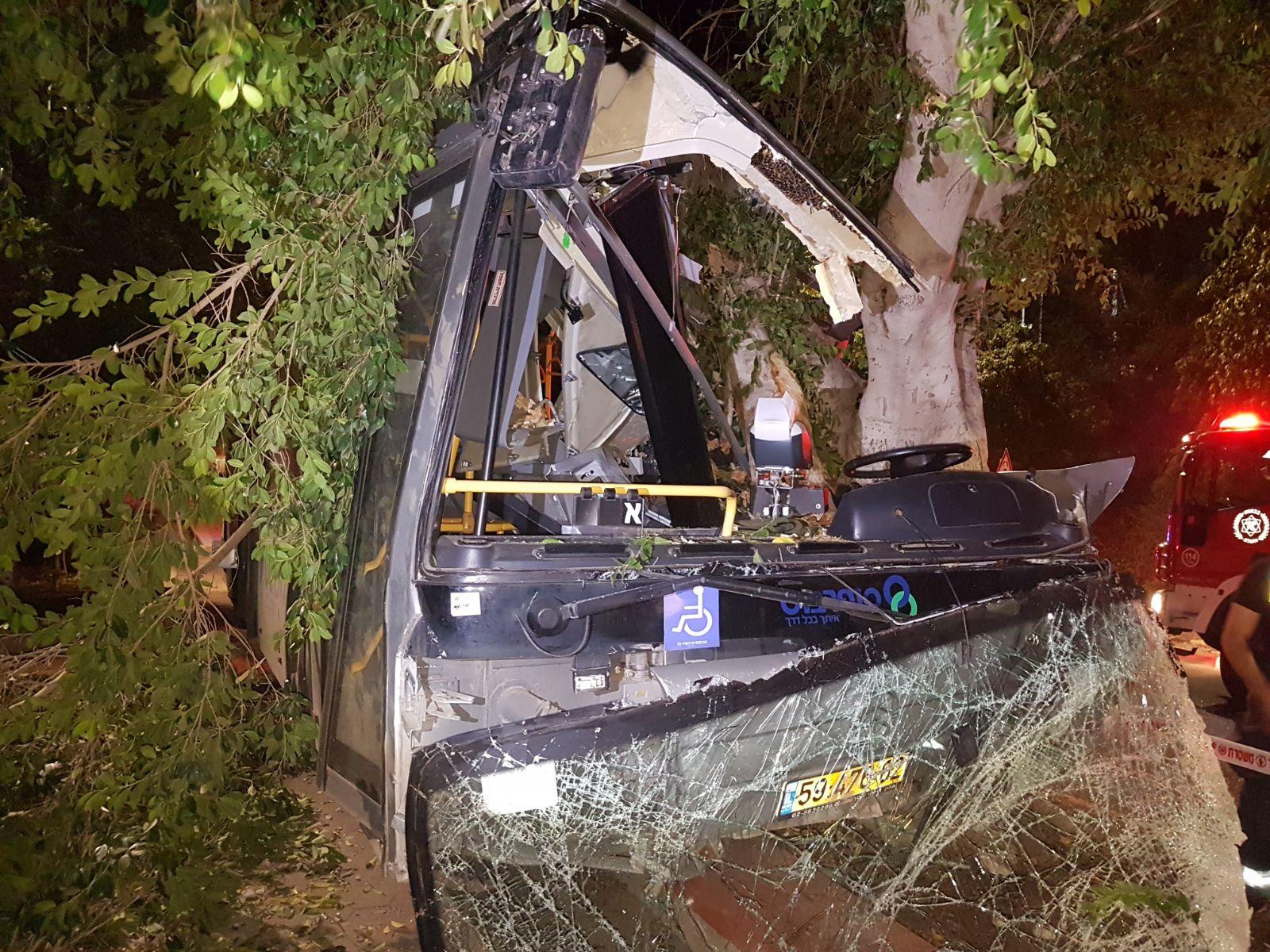 אוטובוס, התנגש בעץ, טבריה.