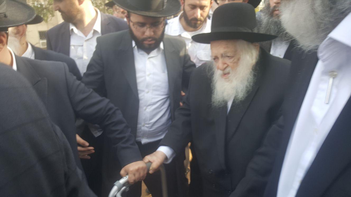 הלווית הרב שטיינמן, הרב קנייבסקי