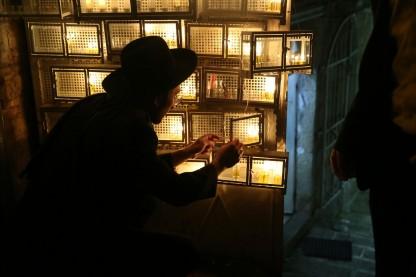 נרות חנוכה, ירושלים