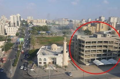 בניין הופצץ בעזה