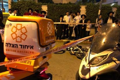 תאונה, אופניים חשמליים, בני ברק
