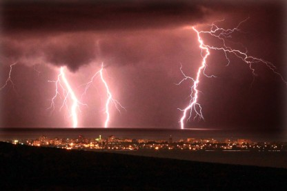 חורף, ברקים, גשם