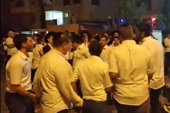 הפגנה מול בית פרוש