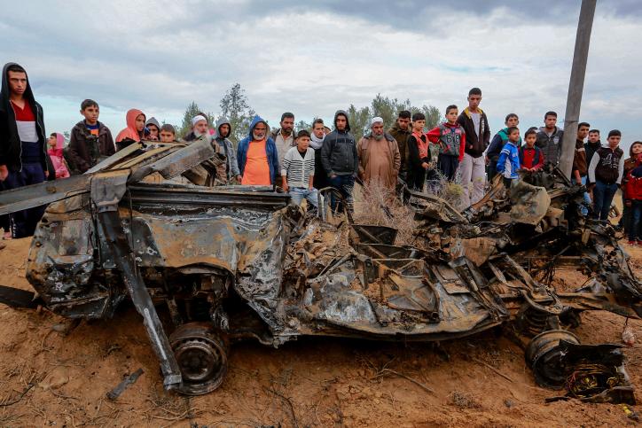 המכונית שהופצצה, עזה