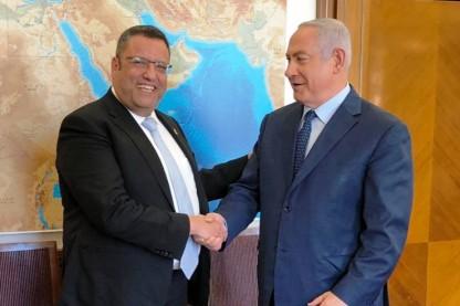 ראש הממשלה בנימין נתניהו עם ראש עיריית ירושלים משה ליאון